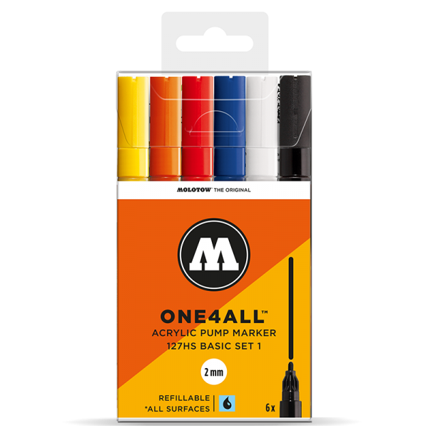 Molotow One4All 127 HS Marker 6er Set 1