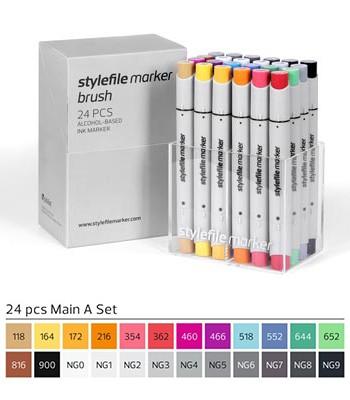 Stylefile Marker Brush 24er Set Main A
