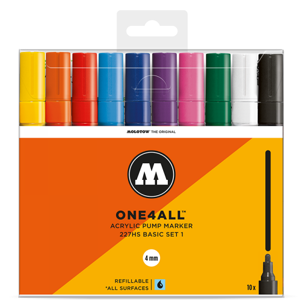 Molotow One4All 227 HS Marker 10er Set 1