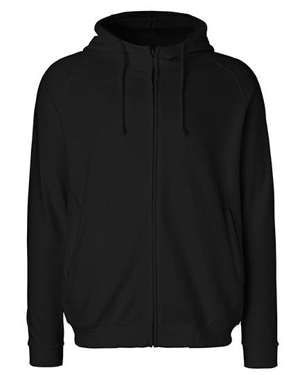 Neutral Unisex Hoodie with hidden Zip 3 Farben Black