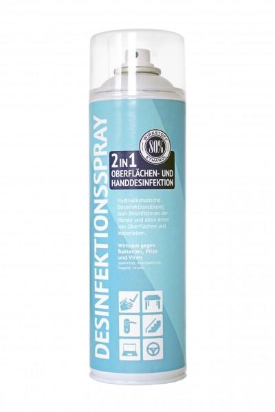 2in1 Desinfektionsspray 500ml für Oberflächen- u. Handdesinfektion