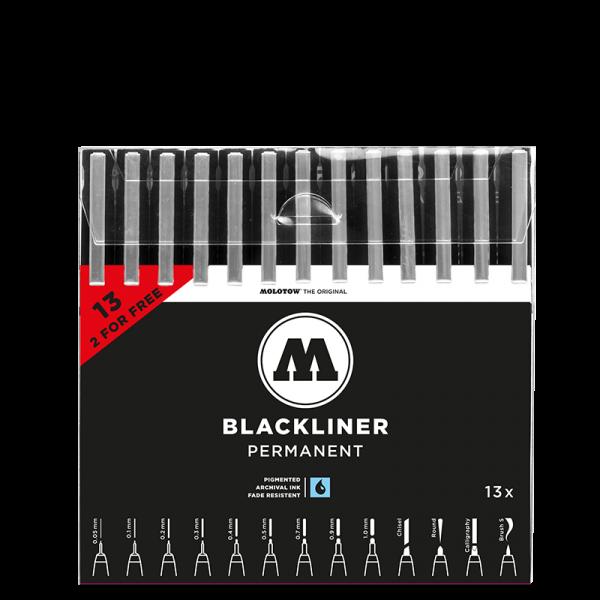 Molotow Blackliner Set Complete 13