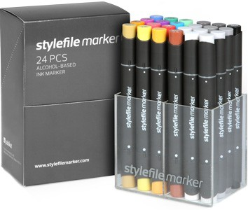 Stylefile Marker 24er Set