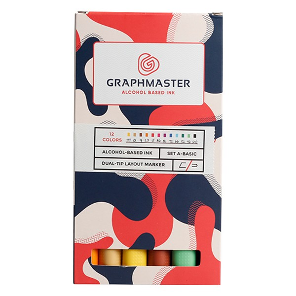 Graphmaster Twin Marker 12er Set A Basic