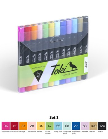 Toki Layoutmarker 12er Set 1