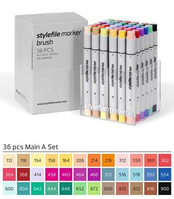 Stylefile Marker Brush 36er Set Main A