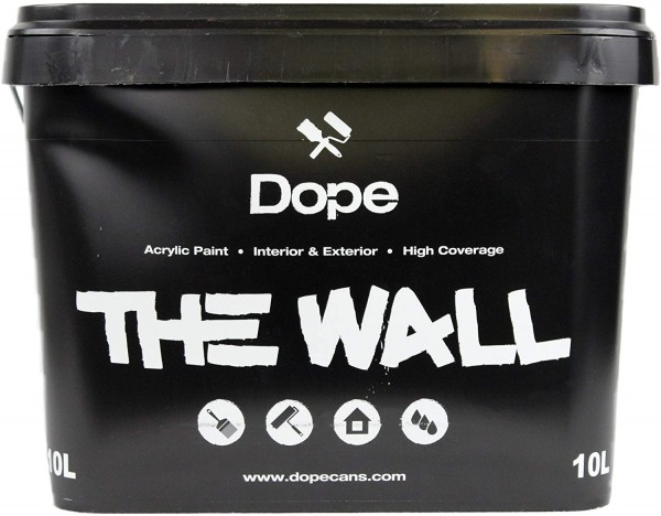 Dope the Wall Paint Black 10 Liter