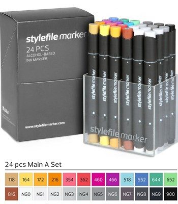 Stylefile Marker 24er Set Main A