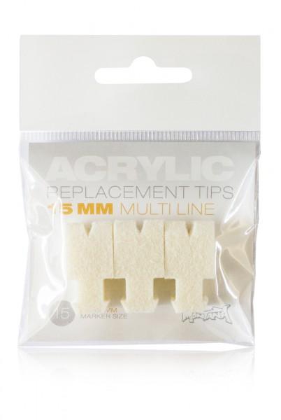 Montana Acrylic Tip Set 15mm Multiline