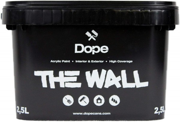 Dope the Wall Paint Black 2,5Liter