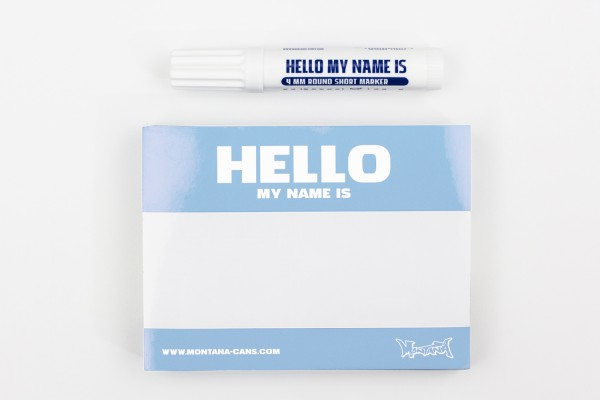 Montana Hello My Name Is Sticker Blue