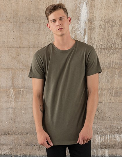 BYB Shaped Long Tee in 5 Farben Olive