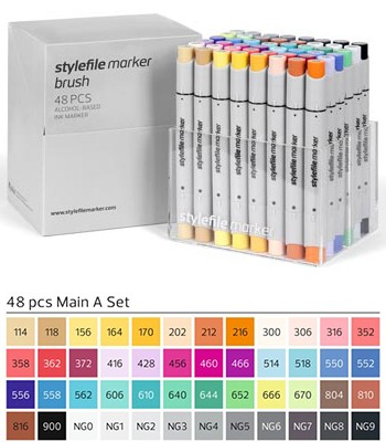 Stylefile Marker Brush 48er Set Main A